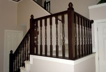 Cabinets/banister