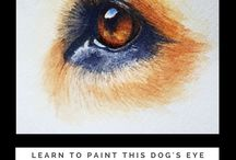 How to Paint a Dog / This board contains art tutorials on painting and drawing dog portraits and anatomy.