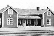 Stationer KBJ / Järnvägsstationer längs Kalmar-Berga järnväg