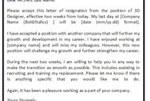Sample Resignation Letters / Thus, resignation letters should be written by following the professional format and structures. Sample resignation letters should be modified and restructured according to the specific circumstances of the employee.