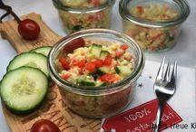 schnelle Mittagessen zum Mitnehmen / Mittagessen to go, echte Alternativen zum Pausenbrot und vor allem viel gesünder