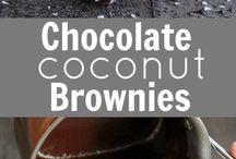 Kokosnuss Brownies