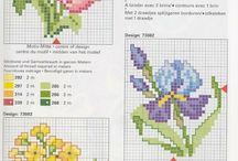 krzyżyki kwiatki różne