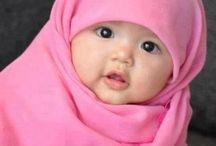 Hijabi / hijabi fashion, hijabi outfits, hijabi bride, babies, humour