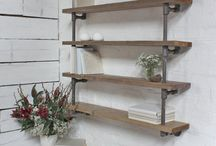 Shelf with steel pipe