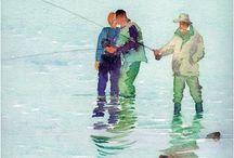 Art -- Watercolour Beach