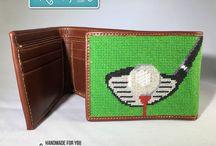 Needlepoint Wallets