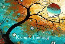 Création de murale à la main