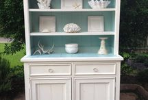 Painted Furniture: Armoires & Hutches