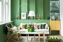 Green / Green decor ideas.