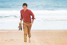 By the Water - Men's Fashion / When I think of fashion by the water I don't only think of bright whites, crisp blues, yacht clubs but also heavy sweaters, nautical stripes, and thick scarves.