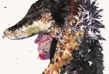My Art / ink on paper, flower wolf, flower art, botanical art, flower print, printing with plants, art, fine art, art print, oil paint, oil on canvas, photography, video art, Chernobyl, Pripyat,
