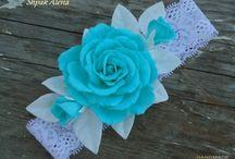 Цветочные аксессуары / Нежный аксессуар для маленькой принцессы