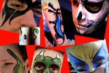 Some boys designs / Face paints / body art