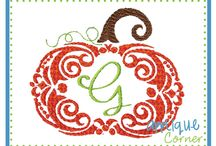 Embroidery Desigs - Fall, Halloween, Thanksgiving