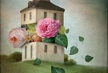 Non sole rose.... / Quadri  con soggeto floreale