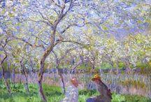 CLAUDE MONET / Oscar-Claude Monet (París, 14 de noviembre de 1840-Giverny, 5 de diciembre de 1926) fue un pintor francés, uno de los creadores del impresionismo. El término impresionismo deriva del título de su obra Impresión, sol naciente (1872).