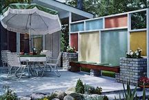 Courtyards Mid Century Modern / Secret Design Studio is a design-focused building consultancy. We are passionate about quality residential design. We collect 20th Century chairs. We champion mid century modern architecture with an irregular blog. www.facebook.com/SecretDesignStudio / by Secret Design