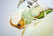 WIP / A look at the work in progress in my art studio and others' with a focus on illustration, ink art, creepy cute art, whimsical art, and children's book illustration.