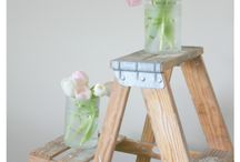 Crafts:  Glass Bottles and Jars / Love crafts with jars.  What can you make with a glass bottle or jar?
