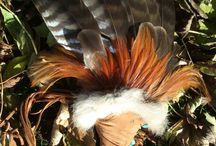 Shamanic tools and feathers / handcraftet shamanic tools and feathers