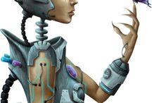 Tubes  Robotique et futuriste