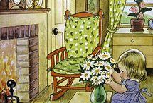 Иллюстрации: дом, окна