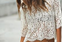 Lace shirt outfit