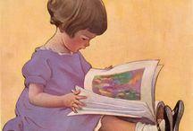 Ecoliers, lecture et école - Pupils, reading and school / Images au fil du temps ...