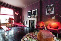 Farbe/Color in Interieur / Farbe in Räumen - colored rooms