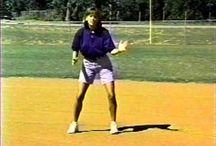 Softball baseball running
