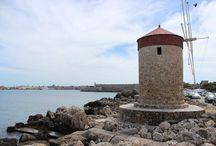 Mandraki Harbor Windmills