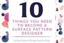 Learning Surface Pattern Design / Tutorials, How-to's, and Resources to Learn Surface Pattern Design. / by Fashion Step-by-Step