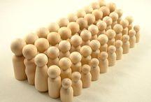 Wooden dollies 
