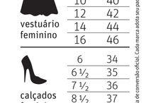 TAMANHOS EUA X BRASIL