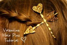 Cupid's arrow hair pins