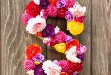 Lettre fleuries