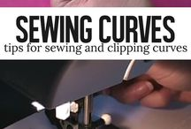 Sewing. Curves