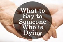 Saying Goodbyes / Saying goodbyes to loved ones at the end of their lives, and those who have passed away already.