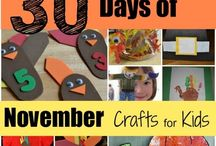 Thanksgiving Crafts For Kids / 100+ Thanksgiving Craft for Kids including toddlers, preschoolers, day care centers and elementary school children.   Simple and easy for the holidays.