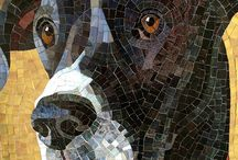 Animal Mosaics / Mosaic art of animals of land and sea. Cute dogs and cat mosaics touch our hearts, particularly memorial mosaics of friends that have passed. Also featured are other lovely members of the animal kingdom rendered in mosaic tile.
