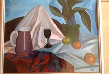 Painting by Olga Ah / Мои работы. Роспись мебели, фарфор, шкатулка, живопись.  Авторские работы Ольги Ах