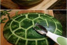 Watermeloen snijwerk