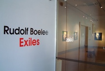 """""""Exiles"""" / Installation Images of art works at the Millenium Gallery, Blenheim and Rotorua Art & History Museum."""