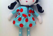 Dolls / Hand made #dolls #fabricdolls #ragdolls