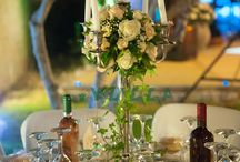 Centerpieces / Flower arrangements for table decoration.