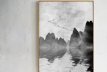 landscape painting / Chinese landscape painting is suitable for all family decoration.
