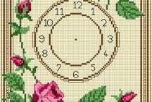 relógio de ponto cruz