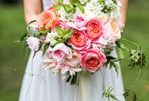 Peachy, pinks, apricot and coral...