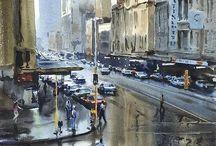 Watercolour streets